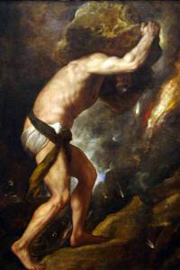 Sisyphys (1548–49) by Titian